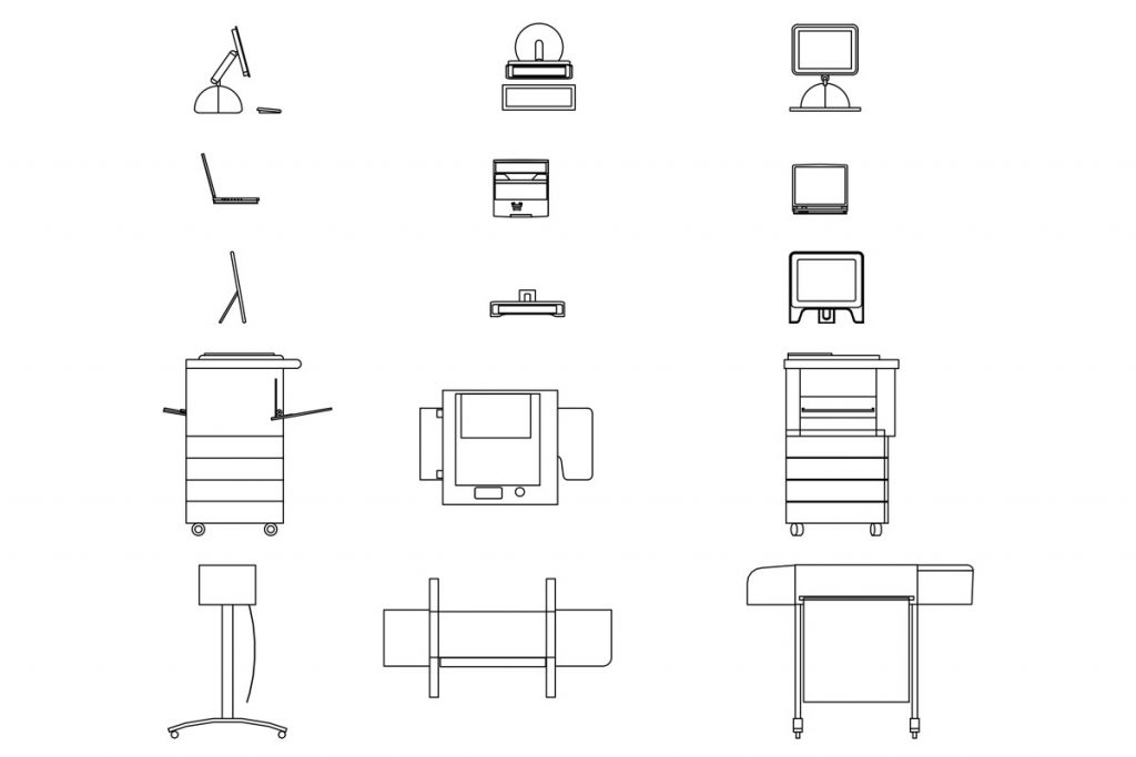 Modern Office Furniture free CAD drawings | Ituk | Office Furniture