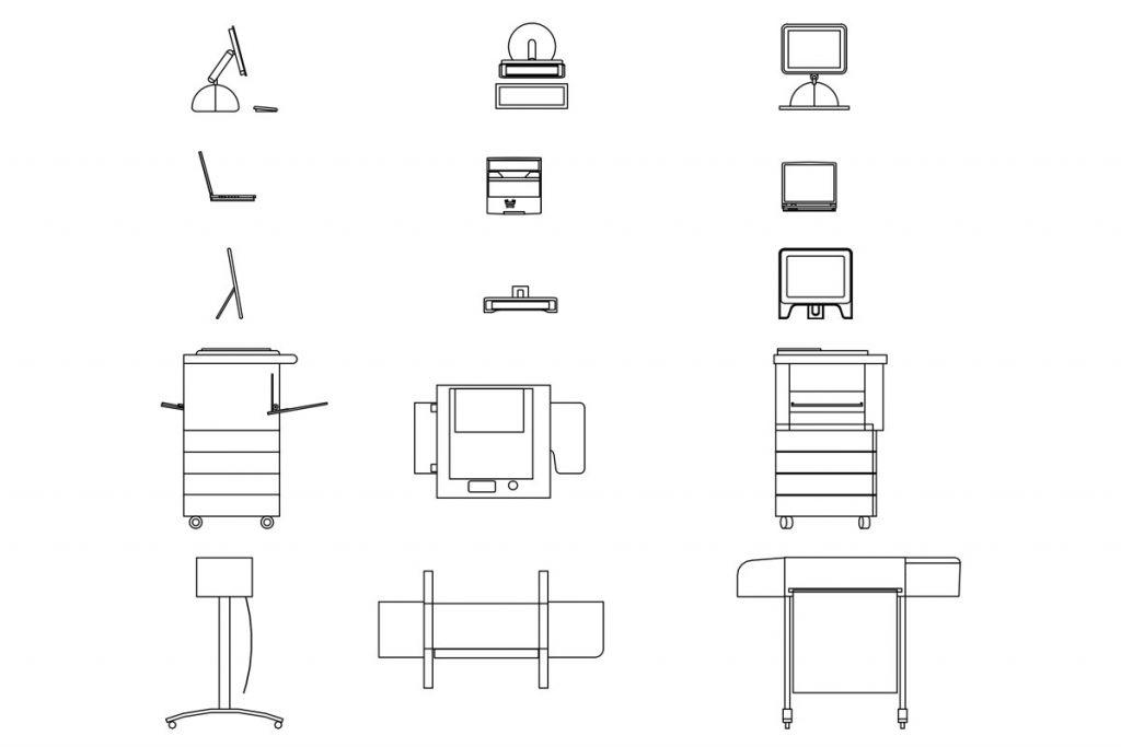 دانلود رایگان بلاک های اتوکد مبلمان و تجهیزات اداری | ایتوک | مبلمان اداری | صندلی دانشجویی